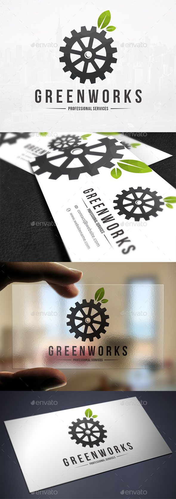 Green Works Logo Template - Nature Logo Templates