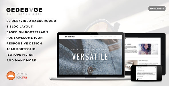 Gedebvge - Responsive One Page Portfolio Theme - Portfolio Creative