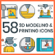 3D Printing Icons - GraphicRiver Item for Sale