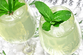 Refreshing summer drink with mint and ice cubes in wine glasses - PhotoDune Item for Sale