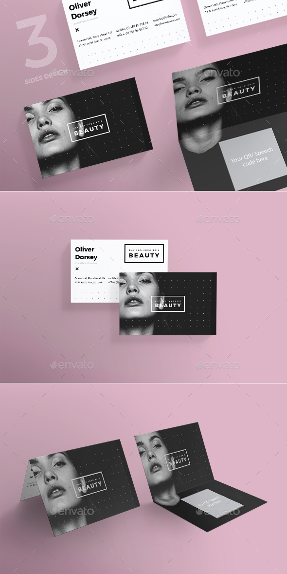 Beauty Salon Business Card by ambergraphics | GraphicRiver