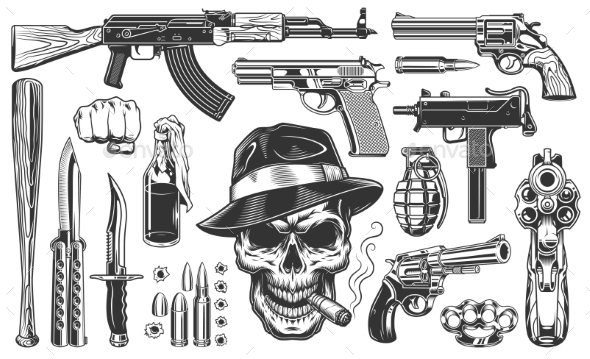 Mafia and Gangsters Set - Miscellaneous Vectors