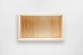 Wooden box on white table top view - PhotoDune Item for Sale