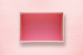 Opened box top view on pink background - PhotoDune Item for Sale