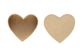 Small box and cover in shape of heart isolated on white background - PhotoDune Item for Sale