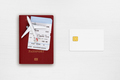 Passport, boarding pass, toy airplane and credit card on table top view - PhotoDune Item for Sale