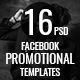 Promotional Facebook Cover Templates (16 in 1) - GraphicRiver Item for Sale