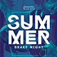 Summer Break Night Party Flyer - GraphicRiver Item for Sale