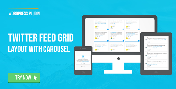 Twitter Feed Grid With Carousel for WordPress - CodeCanyon Item for Sale