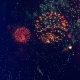 Sparkling Fireworks Explode in the Sky. Fireworks of Different Colors Shine in the Dark Sky - VideoHive Item for Sale