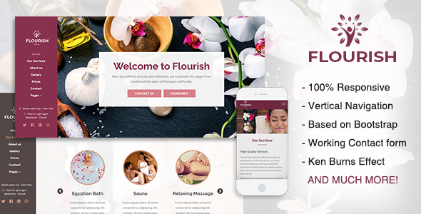 Image of Flourish - Beauty / Spa HTML5 Template