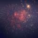 Vivid Fireworks Light in the Sky at Celebration Night - VideoHive Item for Sale