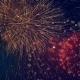 Lots of Colorful Bursts in a Night Sky. Multicolored Fireworks Burst, During a Patriotic Holiday - VideoHive Item for Sale