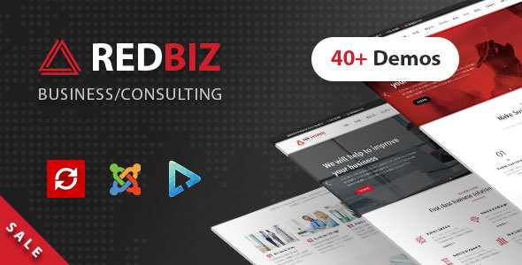 RedBiz - Business & Consulting Multi-Purpose Joomla Template - Business Corporate