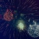 Colorful Fireworks Blow Up in a Dark Sky. . - VideoHive Item for Sale