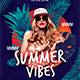 Summer Vibes Dj Flyer Templates - GraphicRiver Item for Sale