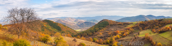 Autumn mountain - Stock Photo - Images