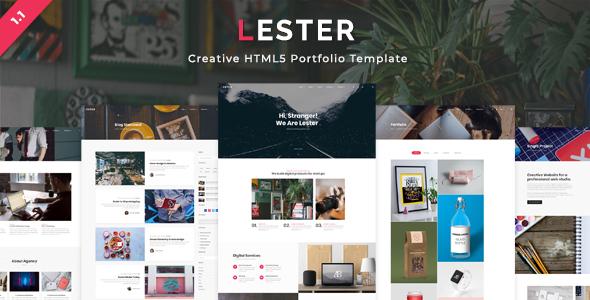 Image of Lester - Creative HTML5 Portfolio Template