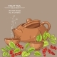 Cup of Schisandra Tea and Teapot