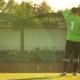 The Goalkeeper Stands Near the Football Goal, Soccer Championship - VideoHive Item for Sale