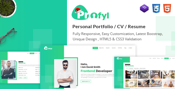 Profyl - Personal Vcard Resume HTML Template - Personal Site Templates