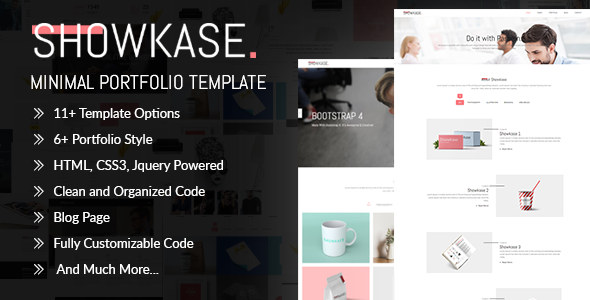 Showkase - Minimal Portfolio Template - Creative Site Templates