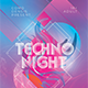 Techno Night Flyer Templates - GraphicRiver Item for Sale
