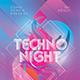 Techno Night Flyer Templates