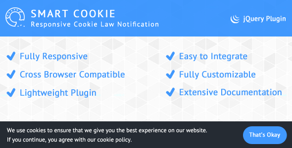 SmartCookie - Responsive Cookie Law Notification - CodeCanyon Item for Sale