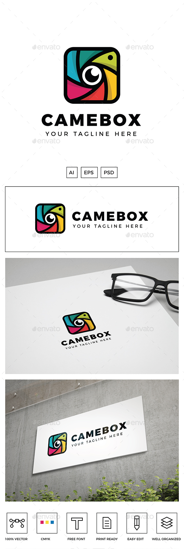 Camera Box Logo - Objects Logo Templates