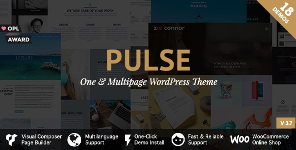 Pulse - Premier WordPress Theme - Business Corporate