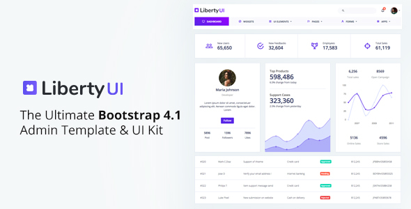 Image of LibertyUI Bootstrap 4 Admin Template