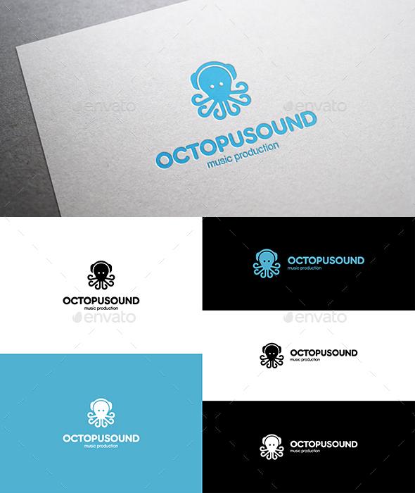 Octopus Sound Logo - Animals Logo Templates