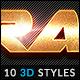 10 3D Text Effects vol.06