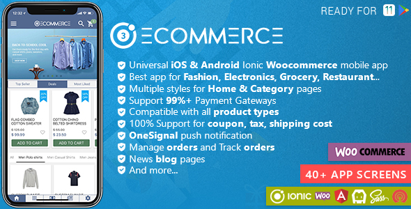 Ionic Woocommerce - Universal iOS & Android Ecommerce / Store Full Mobile App - CodeCanyon Item for Sale
