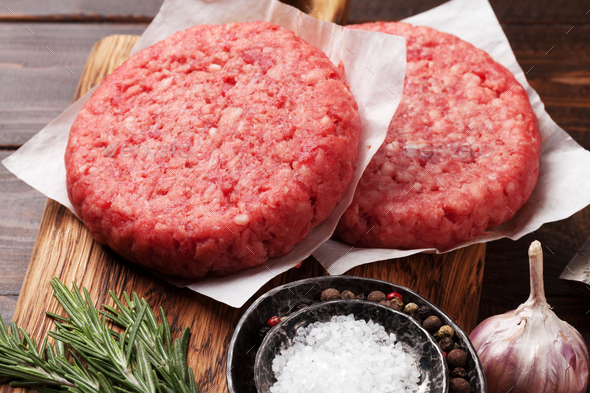 Tasty home made burgers cooking - Stock Photo - Images