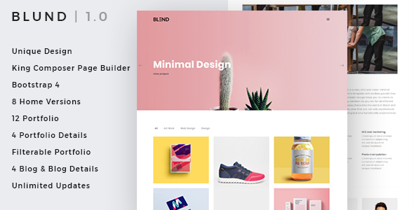Blund Minimal Portfolio WordPress Theme - Portfolio Creative