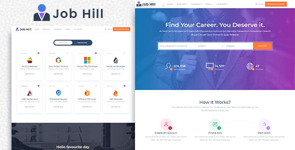 Image of JobHill - Job Board HTML Template