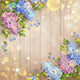 Flowers on Wooden Background - GraphicRiver Item for Sale