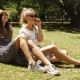 Girls Relaxing in Park - VideoHive Item for Sale