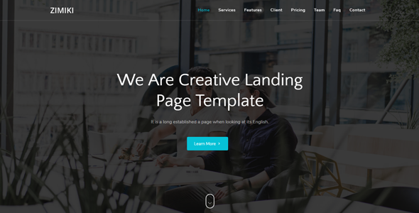 Zimiki - Responsive Bootstrap 4 Landing Template