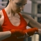 Female Boxer Preparing for Training - VideoHive Item for Sale