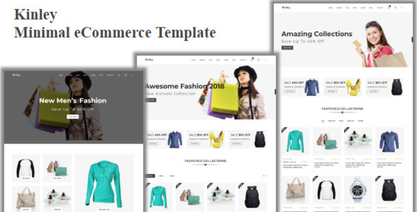 Image of Kinley - Minimal eCommerce Template