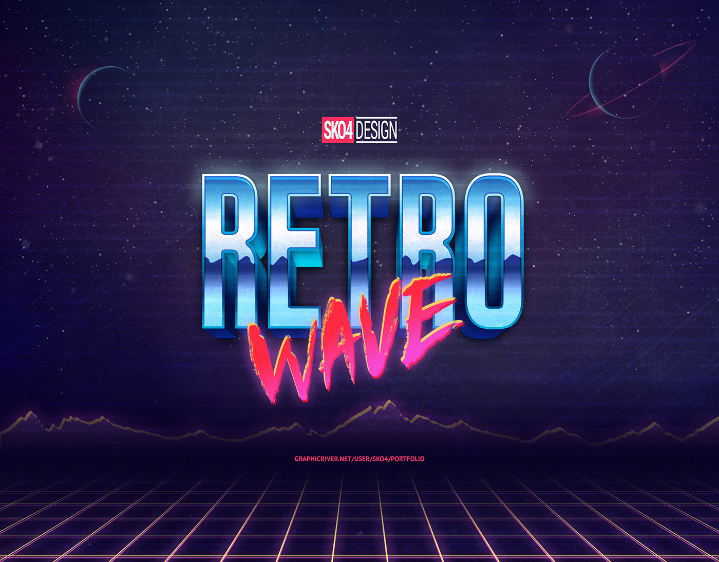 80s Retro Text Effects vol 1