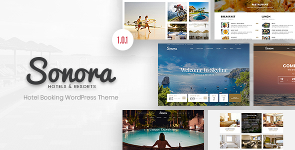 Sonora – Hotel Booking WordPress Theme