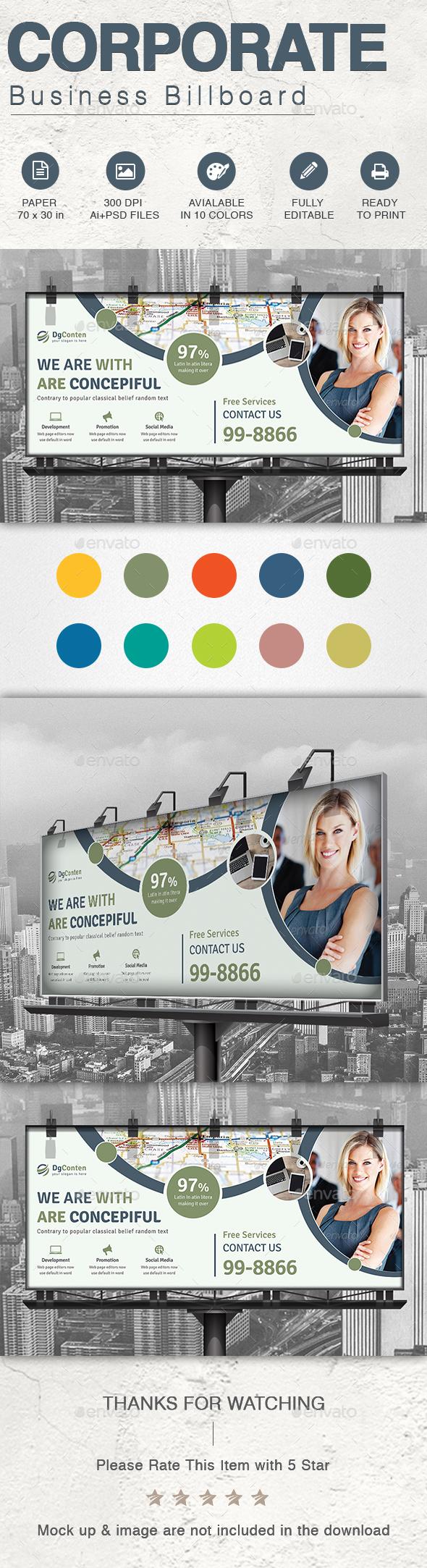 Corporate Business Billboard - Signage Print Templates