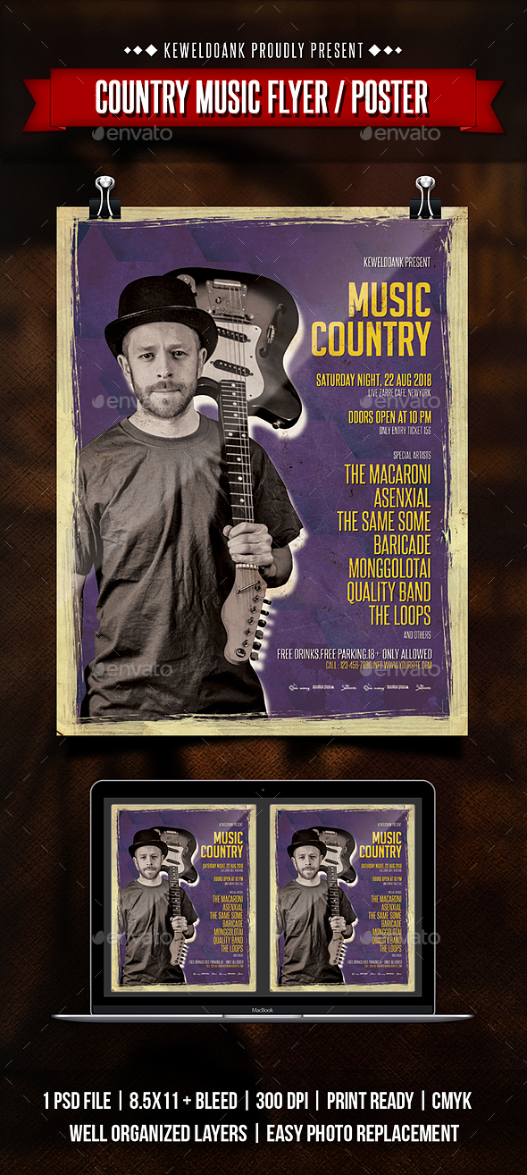 Country Music Flyer / Poster - Concerts Events