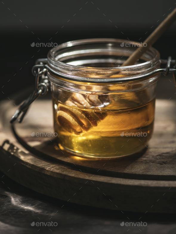Organic honey food photography recipe idea - Stock Photo - Images