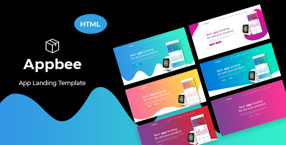 Appbee - App Landing HTML5 Template - Technology Site Templates
