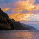 Colorful sunset landscape view of rugged coastline on Kauai, Hawaii - PhotoDune Item for Sale